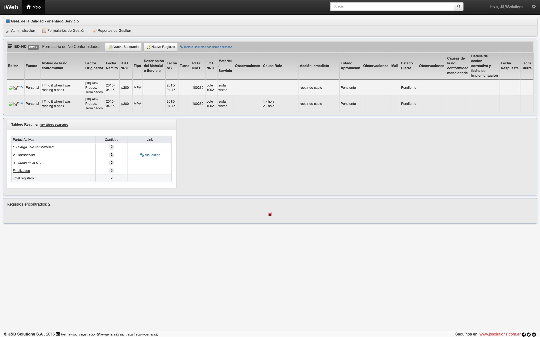 Workflow J&B Solutions Registros